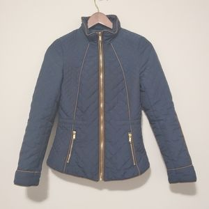 H&M   Blue Quilted Puffer ZIP UP Jacket Coat 32EUR